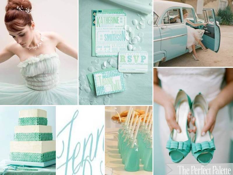 The Perfect Palette Aqua wedding inspiration