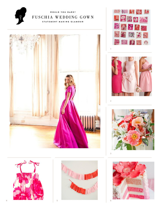 Grey Likes Weddings Fuschia inspiration
