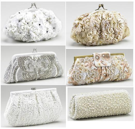 Santi clutches perfect for the stylish bride, with floral and sequin details