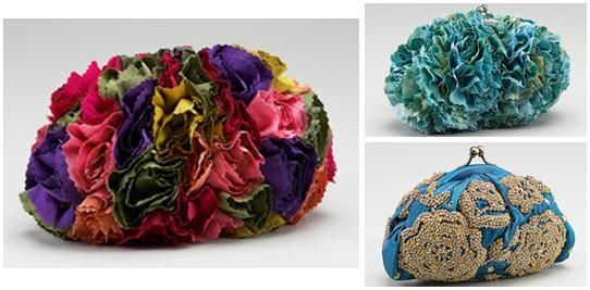 Vibrant clutches for your bridesmaids, inspired by carnations and flowers