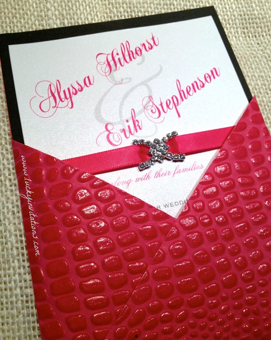 Pink Croc Wedding Invite 4