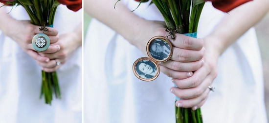 bridal bouquet lockets honoring deceased