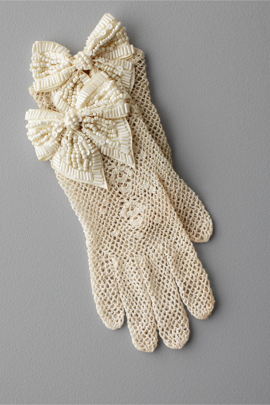 ivory wedding gloves BHLDN bridal accessories