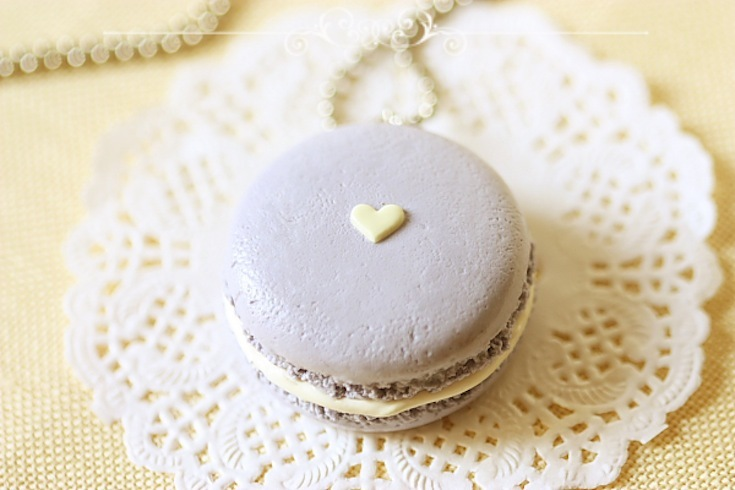 Lavender and gold macaron bridesmaid necklace