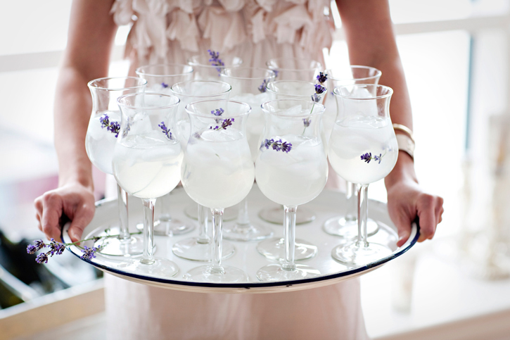 Lavender signature wedding cocktails