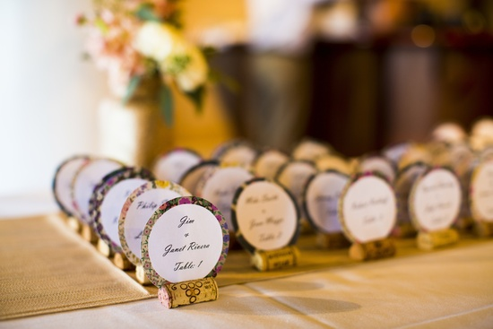 Florida wedding reception details escort cards