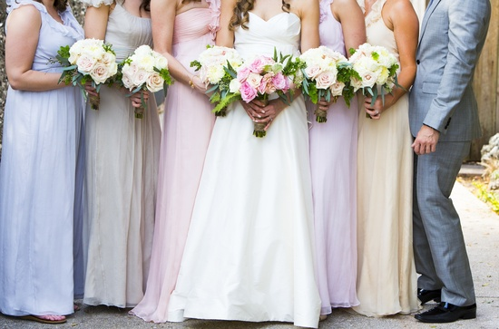 Pastel mix and match bridesmaids Florida Wedding 1