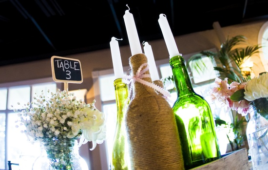 Upcycled wedding ideas wine bottles