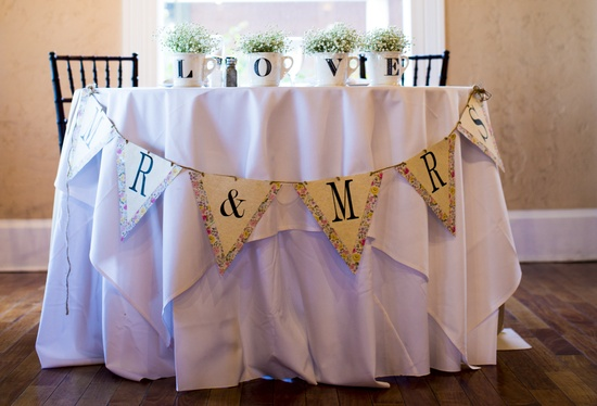 Florida wedding reception sweetheart table