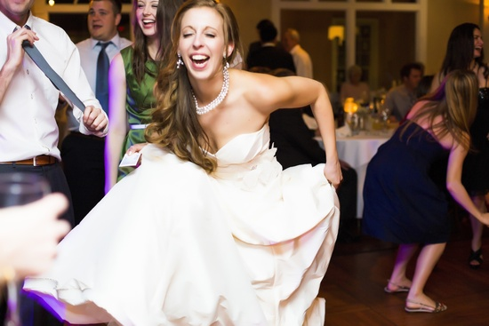 Florida wedding reception bride gets down on dance floor