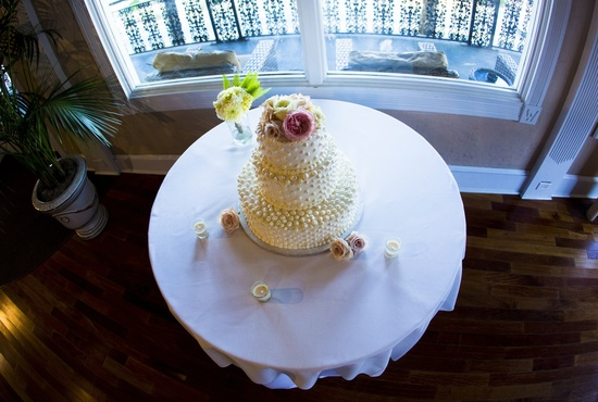 Florida wedding reception cake table