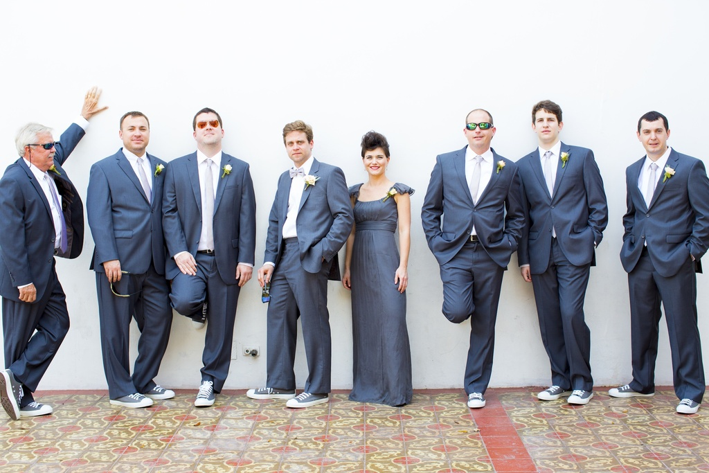 florida grooms wedding party plus best girl
