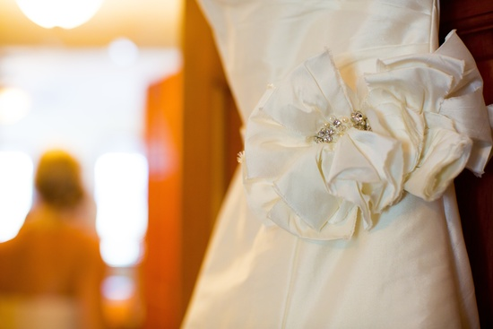 Florida wedding bridal gown detail shot