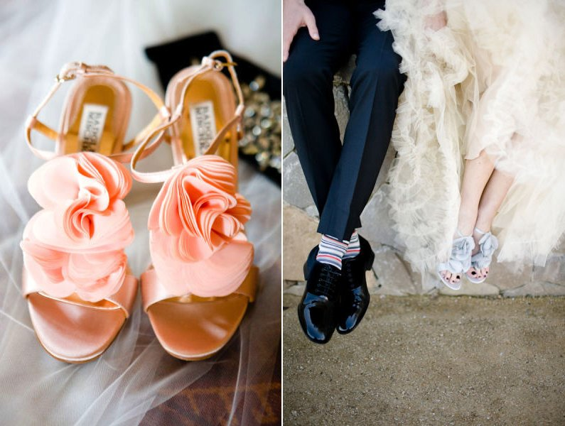Wedding Photography Detail Shots Bridal Shoes Into Wild