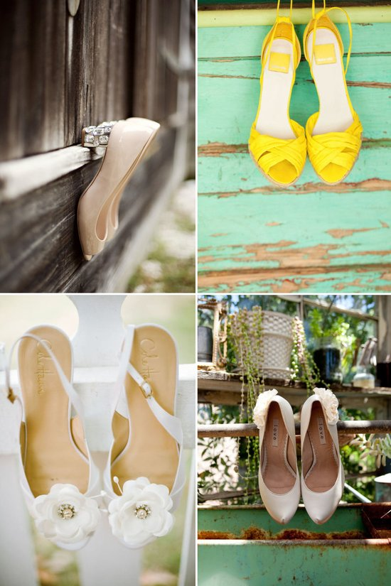 on the fence must have wedding photos bridal heels