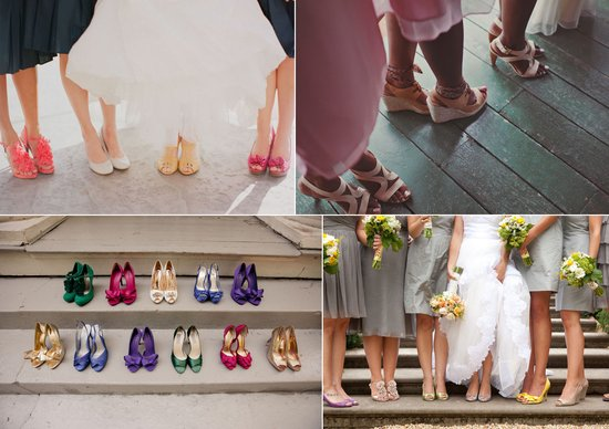 wedding photography shoe shots bride with bridesmaids