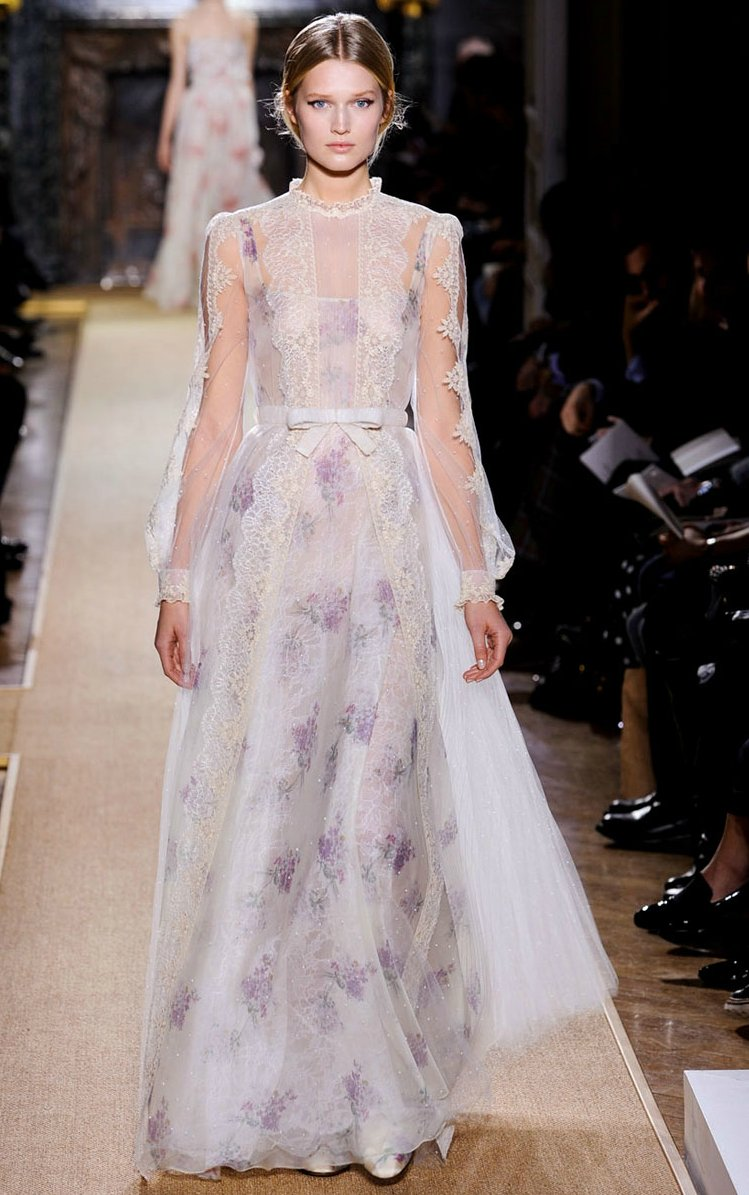 valentino 2012 couture wedding dress inspiration prints