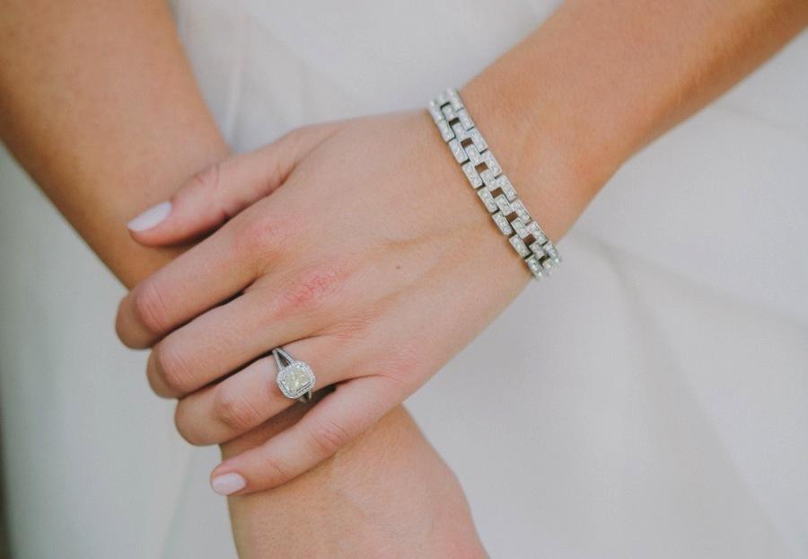 cut engagement ring diamond bracelet