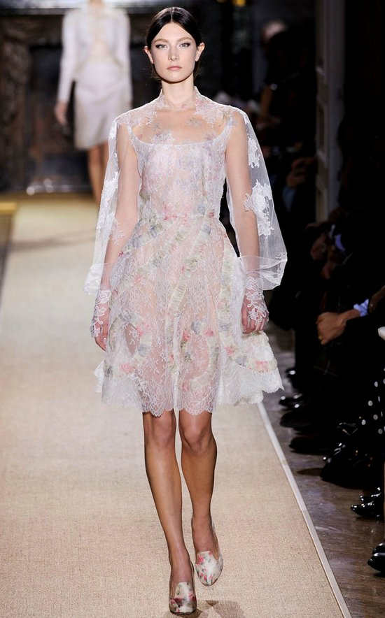 valentino spring 2012 couture wedding reception dress