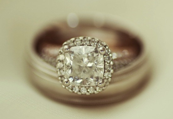 Elegant engagement ring wedding bands photo
