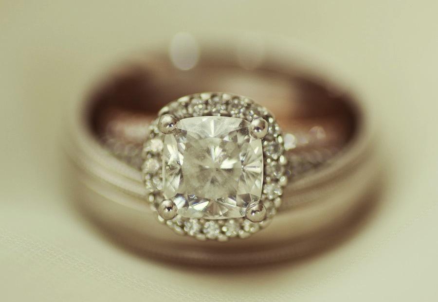 Elegant engagement ring wedding bands photo