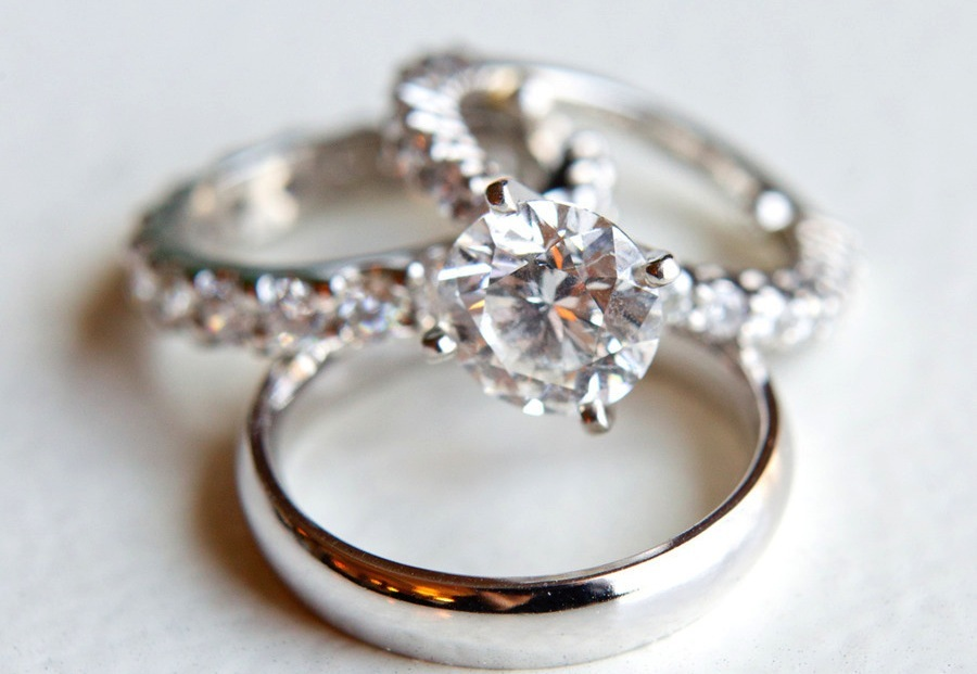 platinum and diamond engagement ring bands