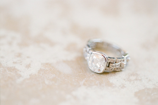 Unique engagement ring setting romantic photo
