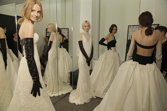 Vera Wang Spring 2014 Wedding Dresses Backstage