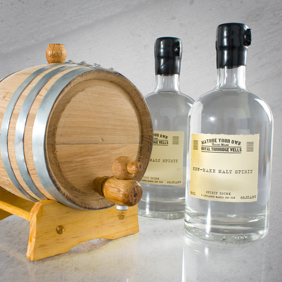 photo of mature your own whiskey kit grooms gifts
