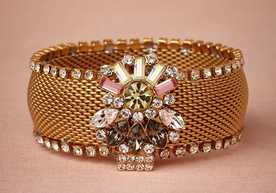 Bold wedding jewelry from BHLDN gold cuff