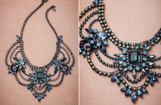something blue statement wedding necklace by bhldn