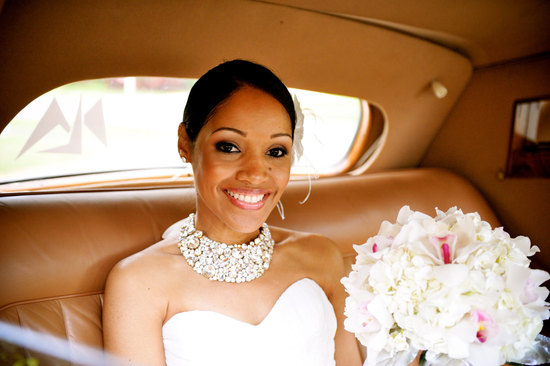Statement wedding jewelry crystal bib necklace