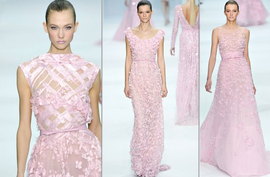 light pink wedding dresses by elie saab spring 2012 couture