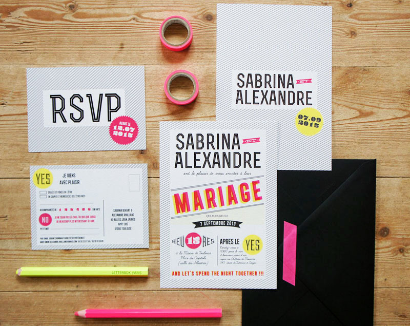 Modern-graphic-neon-wedding-invitations-via-oh-so-beautiful-paper.full