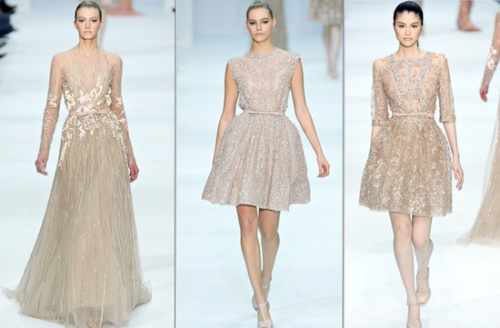gold elie saab wedding dress inspiration spring 2012 couture