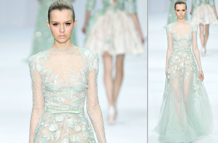 2012 wedding dress trends touches of sheer elie saab for Elie saab 2012 wedding dresses
