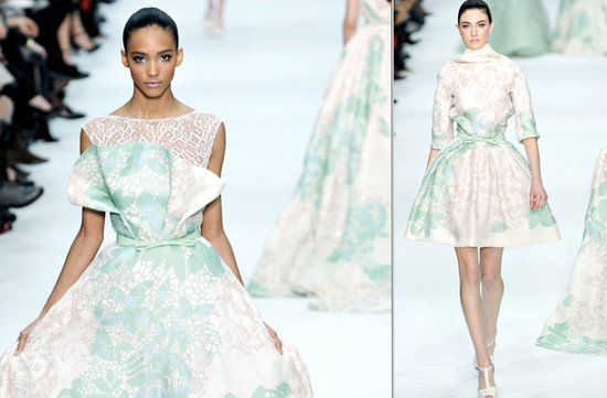 printed wedding dresses 2012 briodal gown trends elie saab