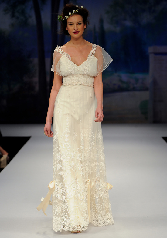 Gatsby inspired wedding style bridal designers Claire Pettibone