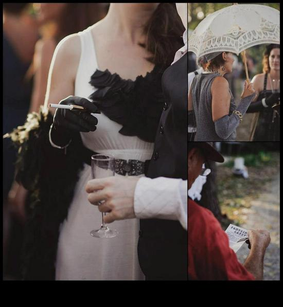 photo of Great Gatsby Wedding Style Outdoor Wedding 1