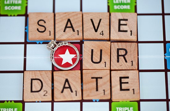 unique save the dates wedding invitations board games