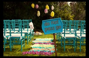 photo of Funky + Chic Board Game Weddings