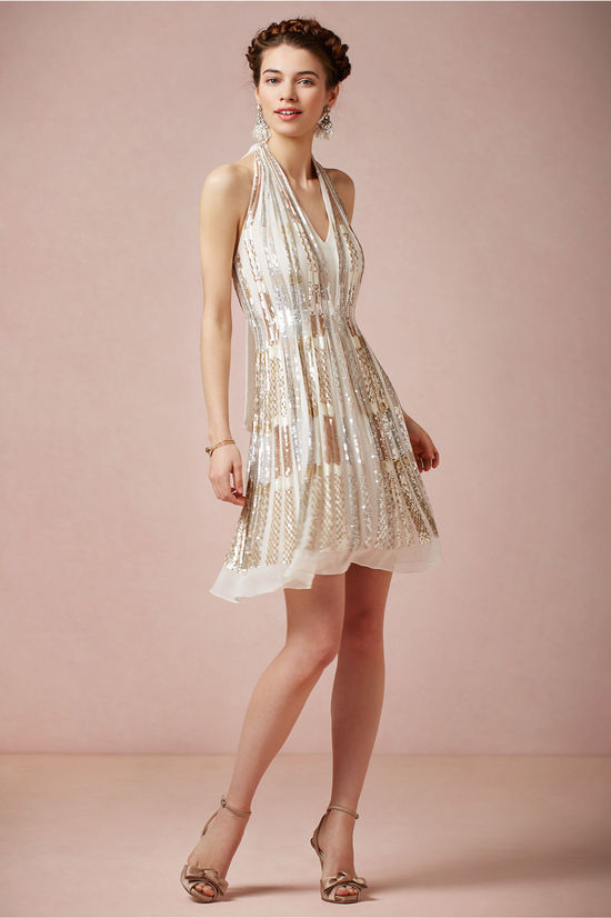 Twila sparkle wedding guest dress by BHLDN