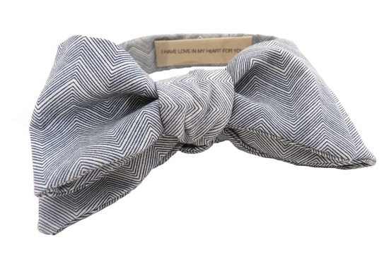 gray chevron grooms bow tie