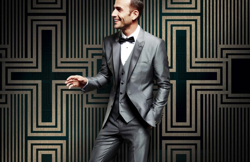 Dapper Grooms Attire D and G silver gray suit | OneWed.com