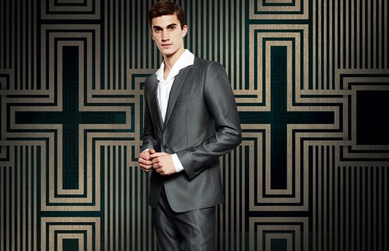 Gray Dolce and Gabbana groom suit