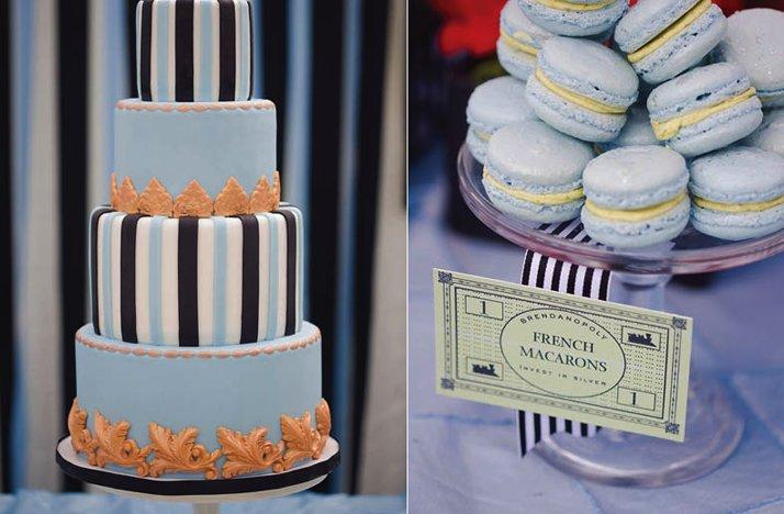 Elegant-wedding-cake-monopoly-themed-reception.full