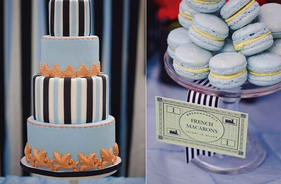 elegant wedding cake monopoly themed reception