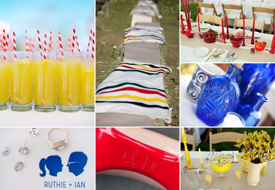 Primary colors wedding inspiration bright and bold