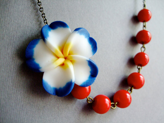 Primary colors bridesmaid necklace