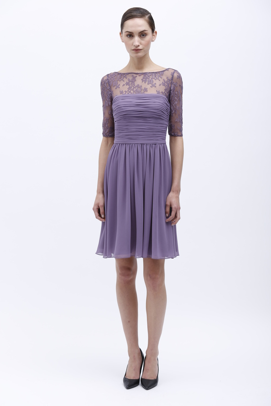 Monique Lhuillier Spring 2014 Bridesmaid Dress 450155 Violet